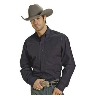 Stetson Western Shirt Mens L/S Solid Button Black 11-001-0566-0022 BL