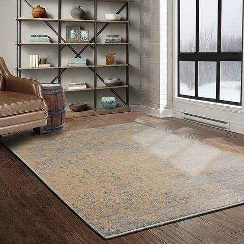 LoomBloom Persian Polypropylene Earth Modern & Contemporary Oriental Area Rug Gray, Taupe Color