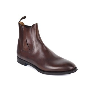 Sutor Mantellassi Mens Brown Leather Slip On Chelsea Boots