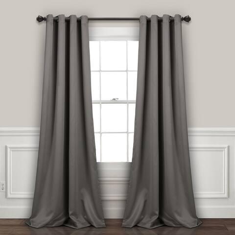 Lush Decor Insulated Grommet Blackout Curtain Panel Pair