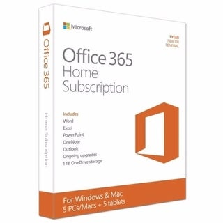 Microsoft Office 365 Home Premium 32/64-bit Personal License English 5 Users, PC/Mac Key Card