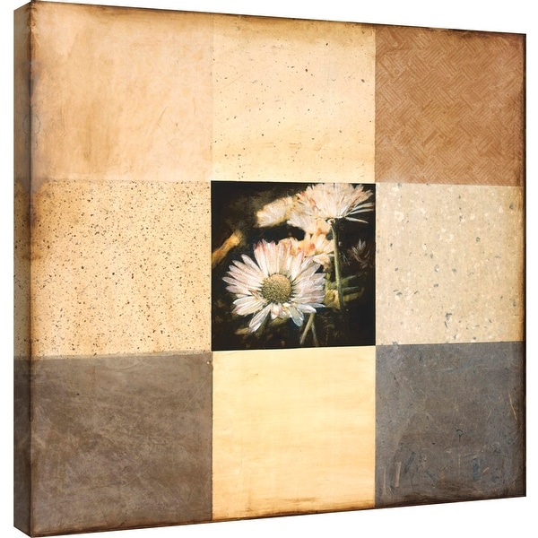 "PTM Images 9-100876 PTM Canvas Collection 12"" x 12"" - ""Shades of Happiness I"" Giclee Flowers Art Print on Canvas"