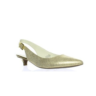 Anne Klein Womens Expert Gold Slingbacks Size 8.5
