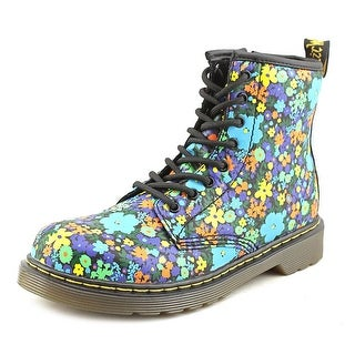 Dr. Martens Delaney Youth Round Toe Leather Multi Color Ankle Boot