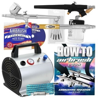 Premium Dual Action Airbrush Kit with 3 Airbrushes