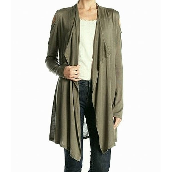 Joseph A Womens Small Cold-Shoulder Cardigan Sweater