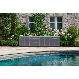 NewAge Products Outdoor Kitchen Classic 184 Inch W x 24 Inch D 5 Piece Set (4 options available)