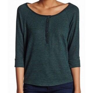 Alternative Apparel NEW Green Women's Size Small S Henley Knit Top
