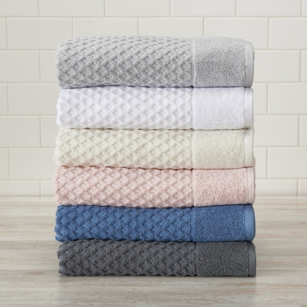 Great Bay Home Grayson Collection Cotton Textured Bath Towel Sets. Opens flyout.