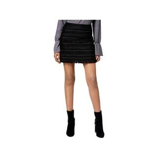 MICHAEL Michael Kors Womens Mini Skirt Fringed Textured