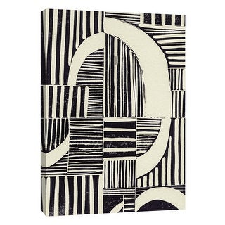 "PTM Images 9-109075  PTM Canvas Collection 10"" x 8"" - ""Abstract Linocut A"" Giclee Abstract Art Print on Canvas"