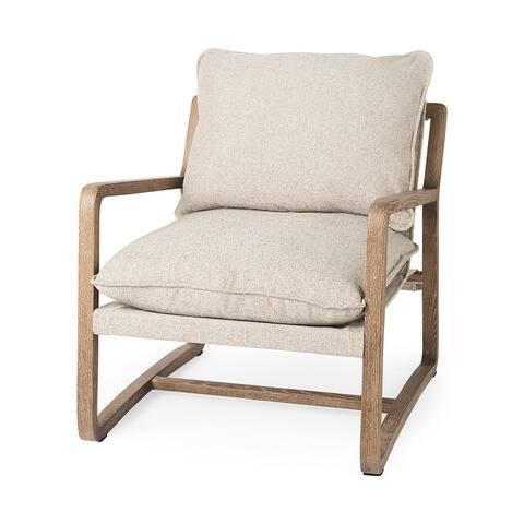 Brayden 28.3L x 34.1W x 35H Wood W/ Fabric Seat Accent Chair