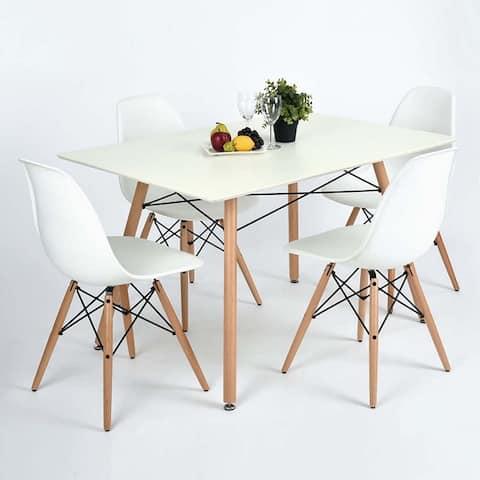 "43"" Dining Table In Matt Color - White"