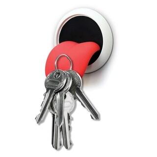 "Magnetic Tongue Key Holder - Novelty Wall Decor - 4"" X 4"""