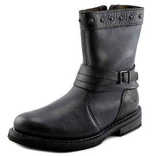 Harley Davidson Mandy Round Toe Leather Mid Calf Boot