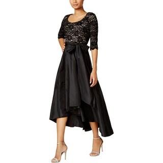 R&M Richards Womens Petites Evening Dress Lace Sequined - 10P