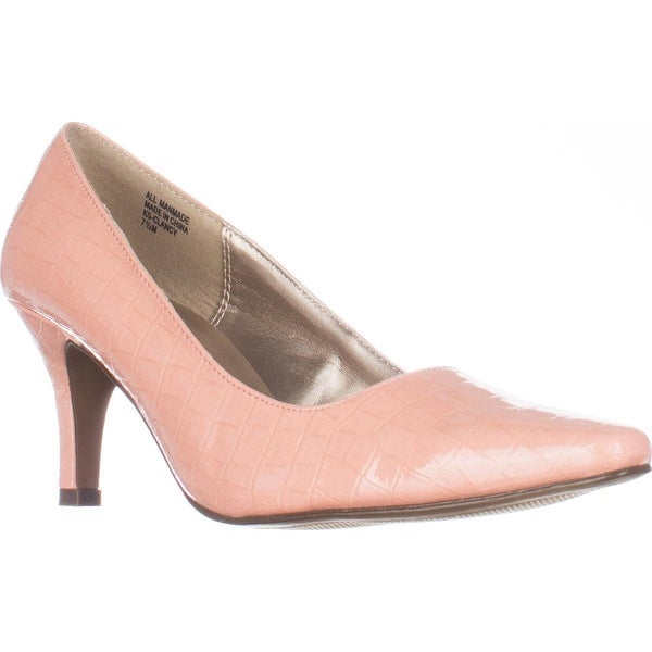KS35 Clancy Classic Pointed Toe Pump Heels, Peach