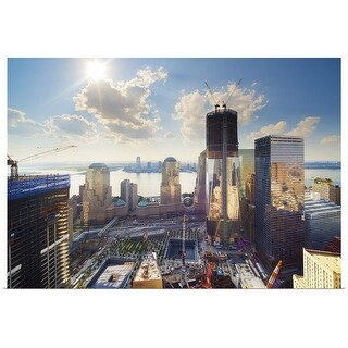"""World Trade Center and New York Skyline"" Poster Print"