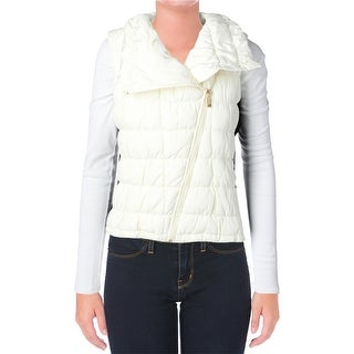 Calvin Klein Womens Lined Mixed Media Outerwear Vest