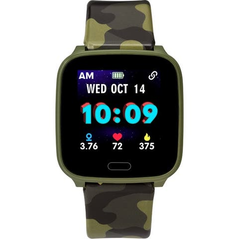 iConnect by Timex TW5M40700 Kids Active Green Camo Smartwatch - 37mm