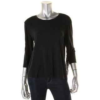 Two by Vince Camuto Womens Pullover Top Modal Blend Fringe - xs