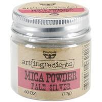 Finnabair Art Ingredients Mica Powder .6oz-Silver