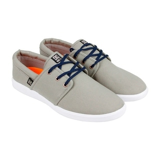 DC Haven Mens Tan Suede Lace Up Sneakers Shoes