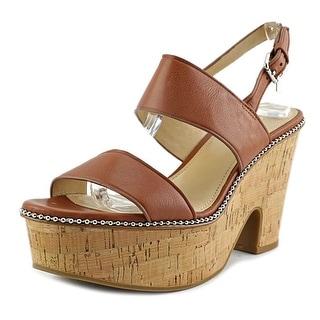 Coach Quartz   Open Toe Leather  Platform Sandal