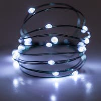 Wintergreen Lighting 50130 18 Bulb Battery Operated Cool White Fairy LED Lights