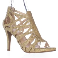 Fergie Hattie Strappy Dress Sandals, Gold - 6.5 us / 36.5 eu