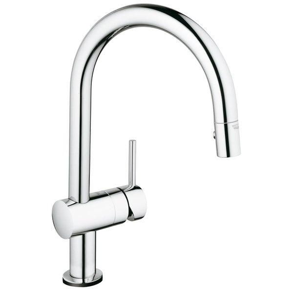 Shop Grohe 31 378 Minta Pull-Down High-Arc Kitchen Faucet with 2 ...