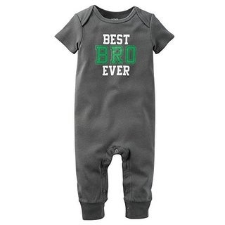Carter's Baby Boys' Jumpsuit-Best Bro Ever- 12 Months - Grey