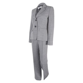 Le Suit Women's Two-Button Notched-Collar Pantsuit - Marble