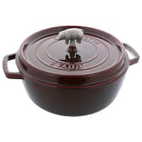 Staub Cast Iron 2.25-qt Round Cocotte - Visual Imperfections - Cherry