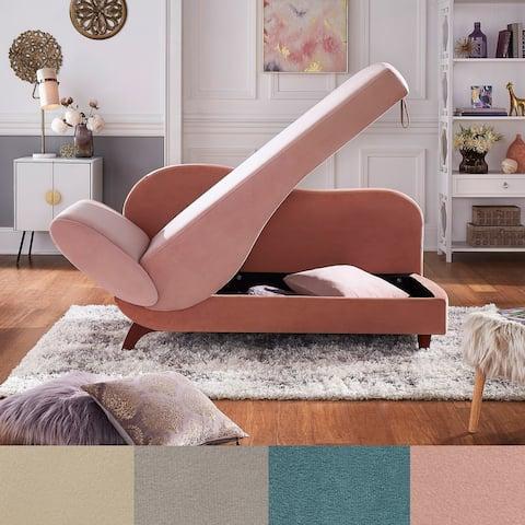 Aideen Two-Tone Dark & Light Functional Chaise iNSPIRE Q Modern