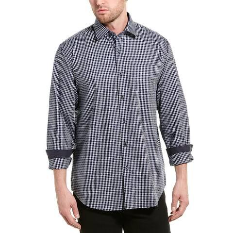 Bugatchi Basket Weave Classic Fit Woven Shirt