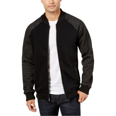 Ring Of Fire Mens Colorblock Knit Bomber Jacket