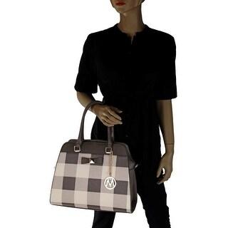 MKF Collection Bridget Plaid Satchel/Shoulder Bag by Mia K. Farrow (5 options available)