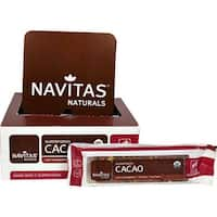 Navitas Naturals Organic Superfood Bar - Cacao Cranberry - Case of 12 - 1.4 oz.