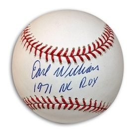 Autographed Earl Williams Baseball inscribed 1971 NL ROY