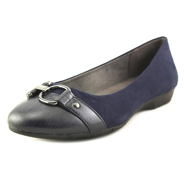A2 By Aerosoles Ultrabrite Women Round Toe Canvas Blue Loafer
