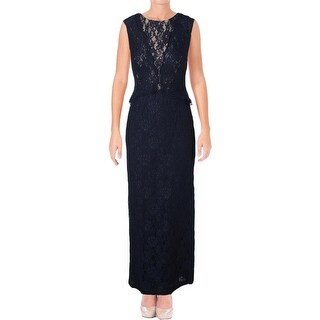 Ralph Lauren Womens Formal Dress Lace Popover