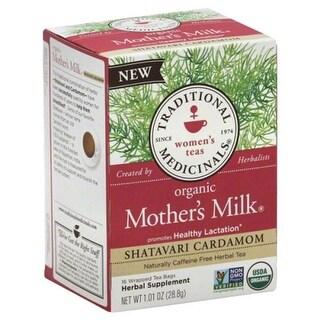 TRADITIONAL MEDICINALS TEA MTHRS MLK SHATAVAR-16 BG -Pack of 6