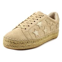 Marc Fisher Womens marcia Leather Low Top Lace Up Fashion Sneakers
