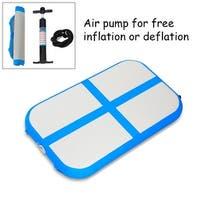 Goplus 3.3' Inflatable Gymnastics Mat Air Track Floor Mat Water Buoyancy with Pump Blue