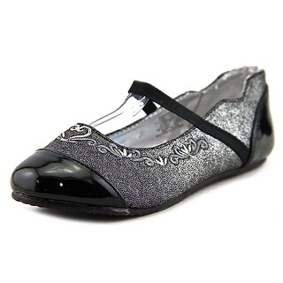 Stride Rite Arendelle Youth Round Toe Patent Leather Black Flats