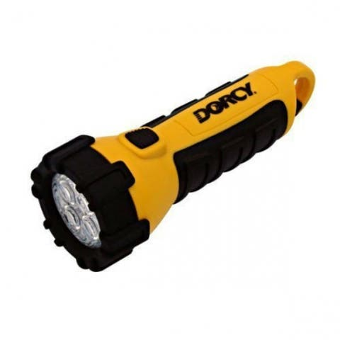 Dorcy 41-2510 Floating Waterproof 4-LED Flashlight with Carabineer & Batteries