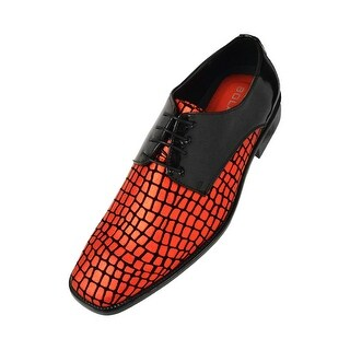 Bolano Mens Metallic & Patent and Exotic Printed Oxford