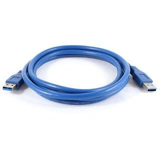 Unique Bargains 1.8M Blue USB 3.0 Type A Male to Male m/m Extension Cable Cord for PC Laptop