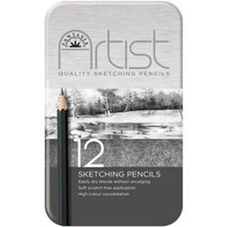 Fantasia Premium Sketching Pencil Set 12Pc-